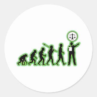 Attorney Round Sticker
