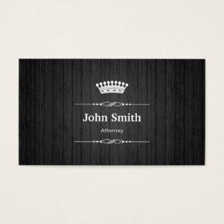 Attorney Royal Black Wood Grain Business Card