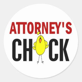 Attorney's Chick Sticker