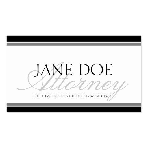 Attorney Silver Script Business Card