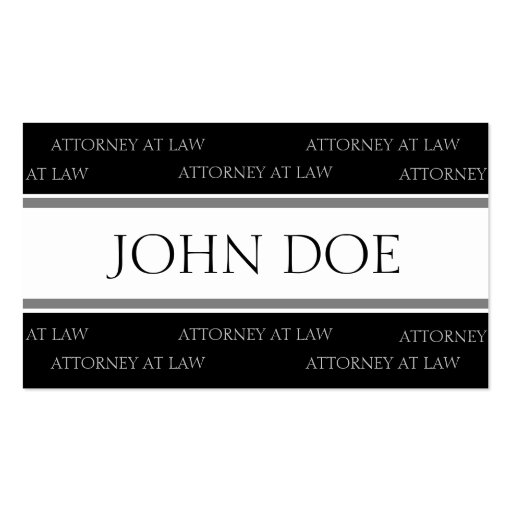 Attorney Silver Stripes - Available Letterhead - Business Cards