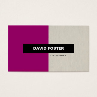Attorney - Simple Elegant Stylish Business Card