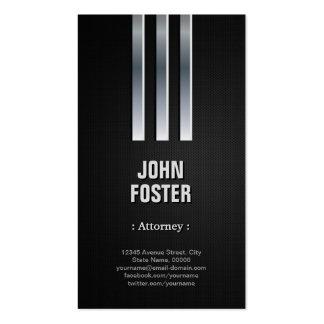 Attorney - Steel Metal Look Pack Of Standard Business Cards