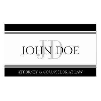 Attorney Striped Banner W/W Business Card