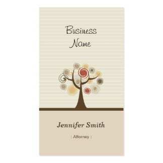 Attorney - Stylish Natural Theme Pack Of Standard Business Cards