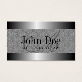 Attorney Texture Marble Silver Metal Metallic Business Card