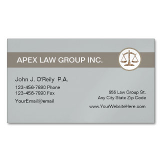 Attorney Theme Magnetic Business Card