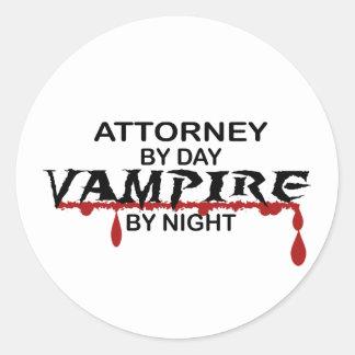 Attorney Vampire by Night Round Stickers