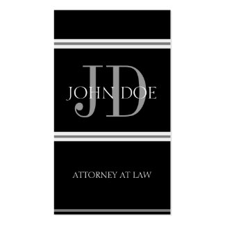 Attorney Vertical B/B Business Card