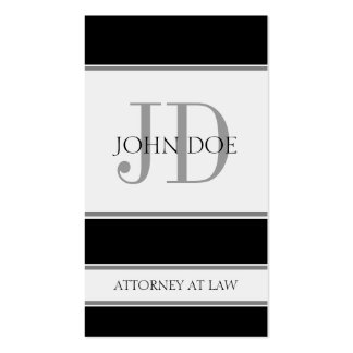 Attorney Vertical Black Business Cards