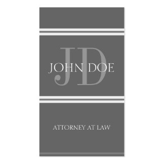 Attorney Vertical DG/DG Business Card Template