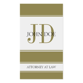 Attorney Vertical Gold Business Card Templates