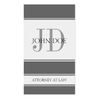 Attorney Vertical Grey Business Card Templates