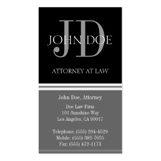 Attorney Vertical Grey Business Card