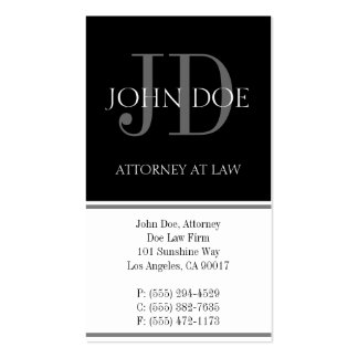 Attorney Vertical White Business Card Templates