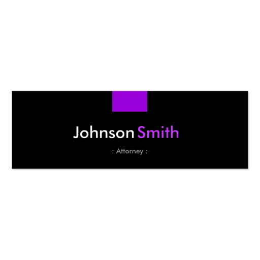 Attorney - Violet Purple Compact Business Card