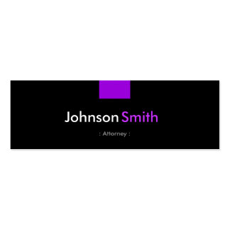 Attorney - Violet Purple Compact Pack Of Skinny Business Cards