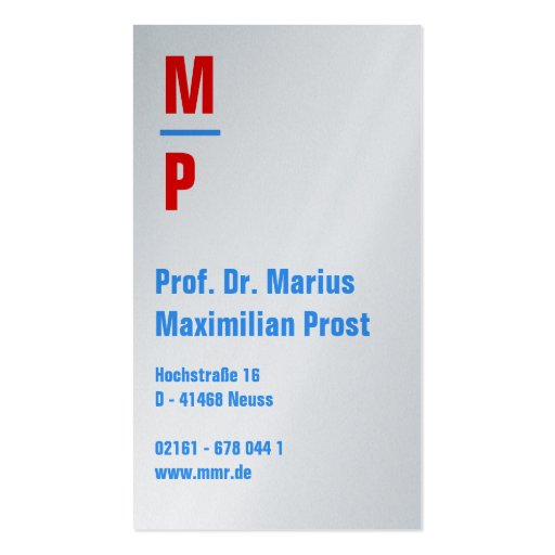 Attorney Visitenkarten Business Card Template