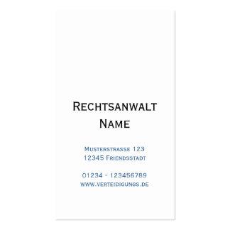 Attorney Visitenkarten Pack Of Standard Business Cards