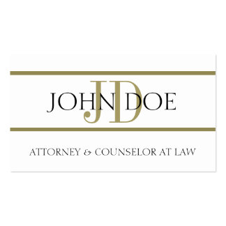 Attorney W/W Gold Stripes - Available Letterhead - Business Card