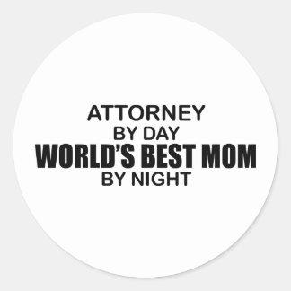 Attorney - World's Best Mom Round Sticker