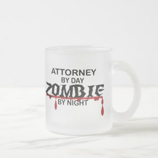 Attorney Zombie Frosted Glass Mug