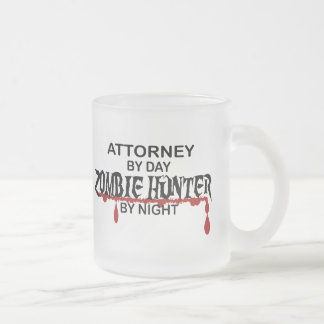 Attorney Zombie Hunter Frosted Glass Mug