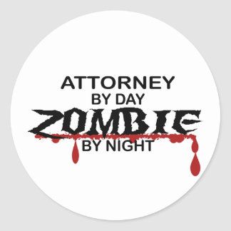 Attorney Zombie Stickers
