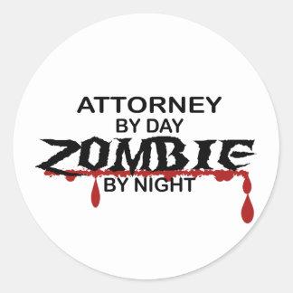 Attorney Zombie Sticker