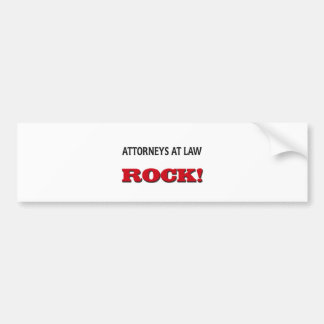 Attorneys At Law Rock Bumper Sticker