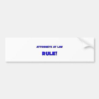 Attorneys At Law Rule! Bumper Sticker
