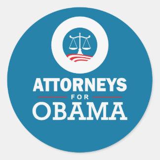 Attorneys for Obama Round Sticker