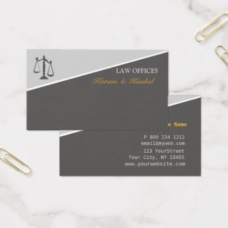 Attorneys Law and Justice Scales of Justice Business Card