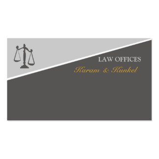 Attorneys Law and Justice Scales of Justice Pack Of Standard Business Cards