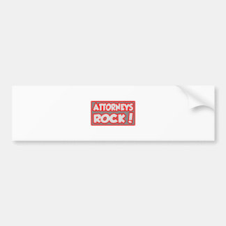 Attorneys Rock! Bumper Stickers