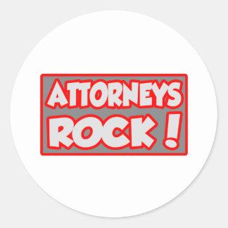 Attorneys Rock! Round Stickers