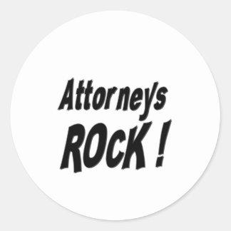 Attorneys Rock! Sticker