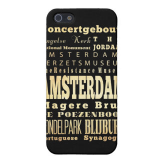 Attractions and Famous Places of Amsterdam Case For iPhone 5/5S