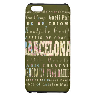 Attractions and Famous Places of Barcelona Spain Case For iPhone 5C