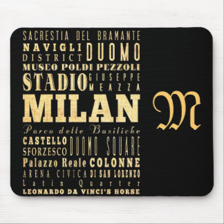 Attractions and Famous Places of Milan, Italy Mouse Pad