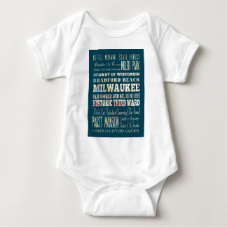 Attractions and Famous Places of Milwaukee Baby Bodysuit