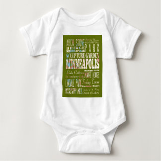 Attractions and Famous Places of Minneapolis Baby Bodysuit