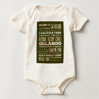 Attractions and Famous Places of Orlando, Florida Baby Bodysuit