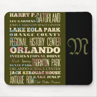 Attractions and Famous Places of Orlando, Florida Mouse Pad