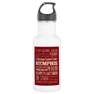 Attractions & Famous Places of Memphis, Tennessee. 532 Ml Water Bottle