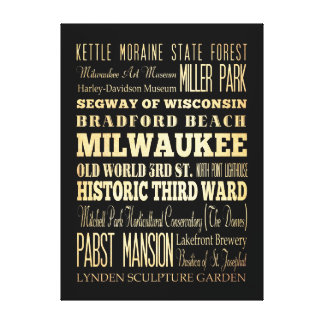 Attractions & Famous Places of Milwaukee,Wisconsin Canvas Print