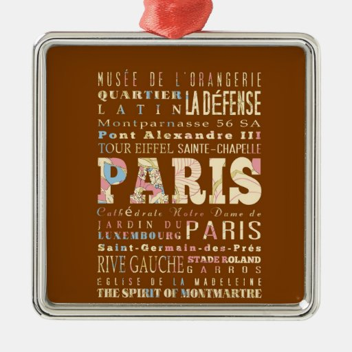 Attractions & Famous Places of Paris, France. Ornaments