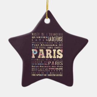 Attractions Famous Places of Paris France Christmas Ornaments