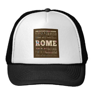 Attractions & Famous Places of Rome, Italy. Cap