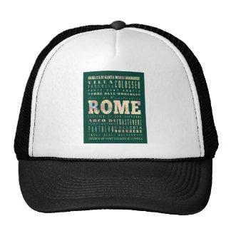 Attractions & Famous Places of Rome, Italy. Mesh Hats
